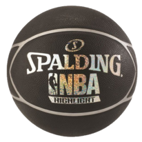Basketbalový míč NBA HIGHLIGHT black/silver Spalding (vel.7)