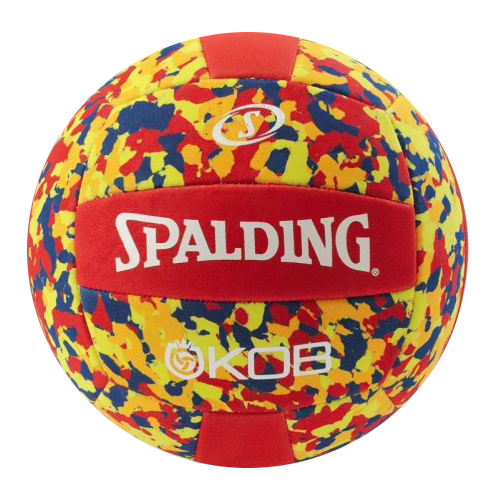 Míč na plážový volejbal KING OF THE BEACH red/yellow Spalding
