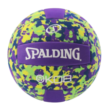 Míč na plážový volejbal KING OF THE BEACH purple/yellow Spalding