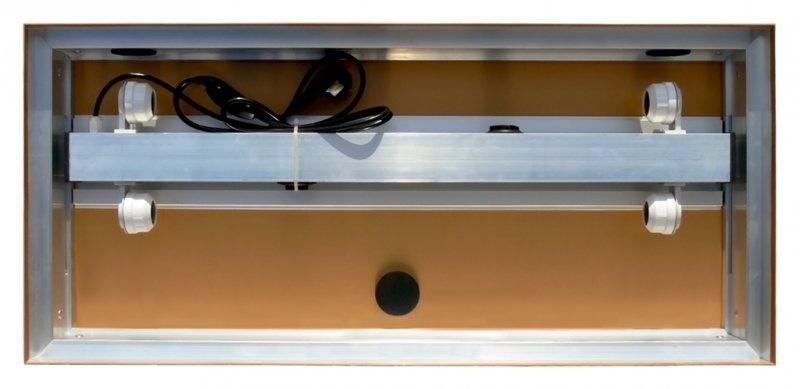 Akvarijní kryt hliníkový 60x30 / 2x15W rovný DIVERSA