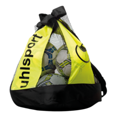 Síťovaná taška BALL BAG black / fluo yellow (12 míčů) UHLSPORT