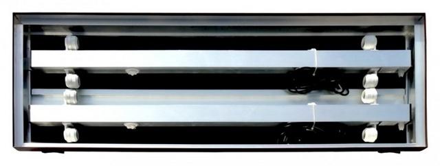 Akvarijní kryt hliníkový 100x40 / 4x30W rovný DIVERSA
